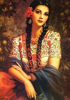 vintage mexican pin up art - Google Search