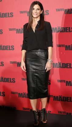 Stars Show You How to Be Stylish & Age-Appropriate with Your Hemline - Sandra Bullock from #InStyle
