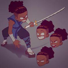 Ideas For Superhero Concept Art Character Design Anime Kid Character, Character Concept, Concept Art, Cartoon Drawings, Cartoon Art, Black Cartoon Characters, Arte Hip Hop, Anime Child, Samurai Art