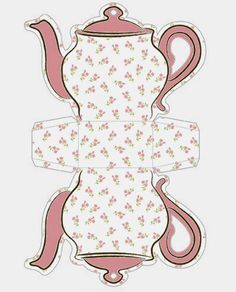 Tea Cup Template Free Printable | Shabby Chic Teapot Free Printable Boxes. | Oh My Fiesta! in english