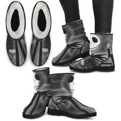 252f2eda2 Jack Skellington in a Snowstorm Women's Suede Faux Fur Boots in Dark G – My  Gift