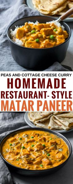 Here& a delicious and creamy, easy restaurant-style . Here& a delicious and creamy, easy restaurant-style matar paneer recipe that you& got to check out. via Anu Healthy Indian Recipes, Asian Recipes, Vegetarian Recipes, Ethnic Recipes, Vegan Soups, Vegetarian Options, Vegan Meals, Easy Restaurant, India Food