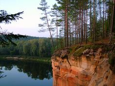 Ērgļu Cliffs and Gauja River in Vidzeme region, Latvia