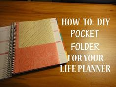 HOW TO: DIY Pocket Folder Insert for your EC Life Planner - YouTube