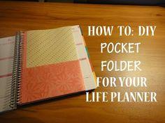 HOW TO: DIY Pocket Folder Insert for your EC Life Planner - YouTube