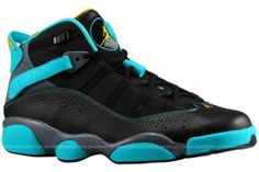 Jordan 6 Rings – Men s – Basketball – Shoes – Black Varsity Maize Cool Grey Gamma  Blue - c0d6dc22c
