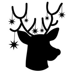 Silhouette Design Store: christmas reindeer silhouette