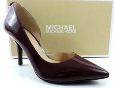 3a7e9d73b194 Womens Michael Kors Nathalie Flex High Pump Point Toe Patent Plum Size 9.5 Women s  Heels