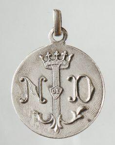 Vintage Medal of LOURDES on 18 sterling silver by CherishedSaints, $58.00