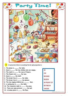 Party Time! worksheet - Free ESL printable worksheets made by teachers