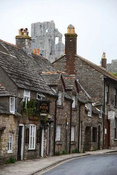 Corfe, Dorset, England. I want to visit a lovely English town like this