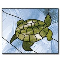 Free Pattern, Swimming Turtle - Glass Crafters