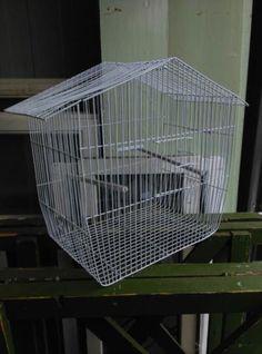 Oude Brocante Vogelkooi Wit