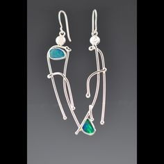 Earrings - Lori Gottlieb: Silver, opal doublets