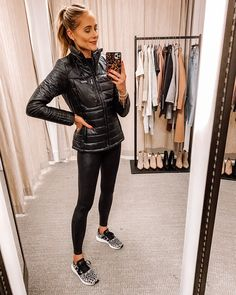 Looks Academia, Barefoot Dreams Cardigan, Spanx Faux Leather Leggings, Black Leggings, Cashmere Jacket, Fashion Jackson, Athleisure Outfits, Sweaters And Jeans, Nordstrom Anniversary Sale