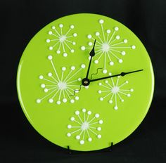 Fused Glass Clock ~ Custom colors available www.coppermstudio.com