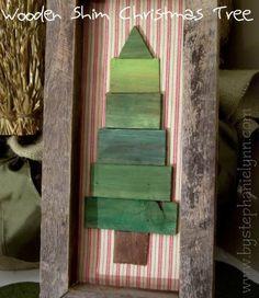 christmas craft ideas Wooden  Christmas tree