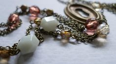 Art Deco keyhole necklace multi strand by KristineRagusDesigns, $38.95