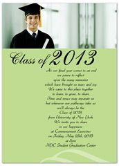 2015 unique photo graduation invitation example 7x5 in horizontal