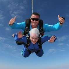 This grandma who's a bit of an adreneline junkie.