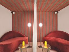 At Colombia's Four Seasons Hotel Bogotá, @RottetStudio furnished the spa's relaxation room with @TomDixonStudio tables, custom love seats covered in cotton velvet, and @MichaelAnastassiades lamps. : Eric Laignel. @sandow... - Interior Design Ideas, Interior Decor and Designs, Home Design Inspiration, Room Design Ideas, Interior Decorating, Furniture And Accessories