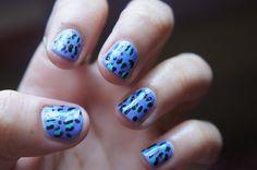 DIY Video- Pastel Leopard Print Nails (Click for video)