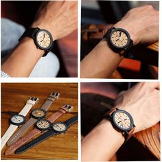 Simulation Wooden Relojes Quartz Men Watches Casual Wooden Color Leather Strap Watch Wood Male Wristwatch Relogio Masculino Like if you remember  #shop #beauty #Woman's fashion #Products #Watch