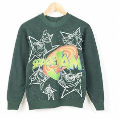 VINTAGE CLOTHING JAM TRADING   Rakuten Global Market: 90 년대 공간 잼 The Monster USA 제 캐릭터 스웨트 셔츠 트레이너 여성용 L SPACE JAM/wen9315 160327