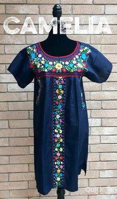 7465af8e42885 Tehuacan Mexican Dress – Camelia Mexican Boutique Mexican Dresses