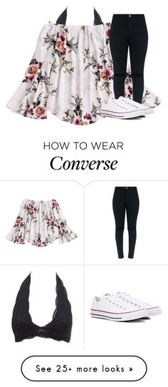 """Untitled #3528"" by laurenatria11 on Polyvore featuring Charlotte Russe and Converse"