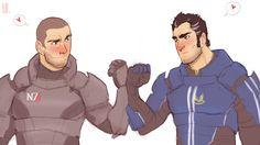Mass Effect - Shepard x Kaidan Alenko - mShenko