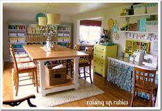 Formal dining/living room turned craft room