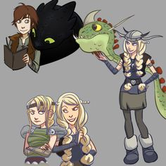 The awkward moment when Ruffnut has a crush on Hiccup. Then it's an immediate cat fight between her and Astrid.