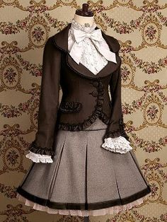 'gothic handmade~lolita dress designs novel popular~lofty~charm elegant~prom' on Wish, check it out! Estilo Lolita, Steampunk Fashion, Victorian Fashion, Vintage Fashion, Style Steampunk, Kawaii Fashion, Lolita Fashion, Frill Jackets, Outerwear Jackets