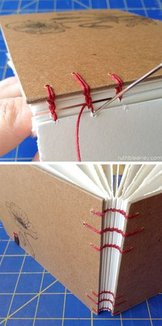 stitching together a single-needle coptic watercolor sketchbook - #bookbinding by Ruth Bleakley
