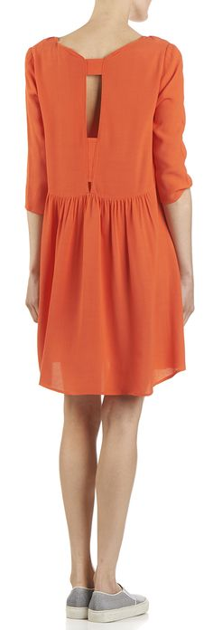 c21b2bb545013 Robe Falk ajourée dos Orange by BA   SH Robe Orange, Couleur Corail, Robe
