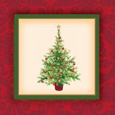 Holiday Tree Beverage Napkins