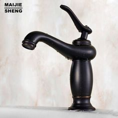 Buy Deck Mounted Dolphin Bathroom Faucet Single Handle 2 Holes ...