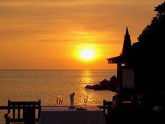 Sunset in Pangkor Laut Resort, Malaysia
