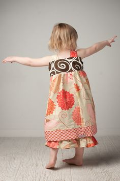Ruffle Pants and Reverse Knot top dress set size by RugratDesign, $50.00