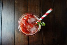 Strawberry, Balsamic, and Lemon Thyme Smash   Wisconsin from Scratch