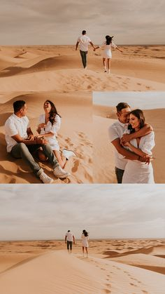 A golden hour engagement session at the Glamis (Imperial) Sand Dunes in, by Carrie Rogers, a California wedding and elopement photographer. Couple Photoshoot Poses, Pre Wedding Photoshoot, Couple Posing, Couple Shoot, Desert Photography, Couple Photography Poses, Friend Photography, Maternity Photography, Engagement Photo Inspiration