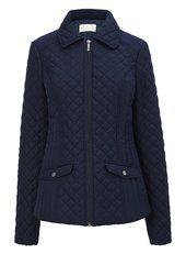 Navy Quilted Short Jacket
