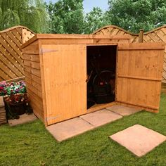 BillyOh 3 x 6 Pent Overlap Bike Store Mini Shed Garden Sheds Uk, Garden Storage Shed, Bike Storage, Shed Building Plans, Shed Plans, Mini Shed, Garden Buildings Direct, Loafing Shed, Gardens