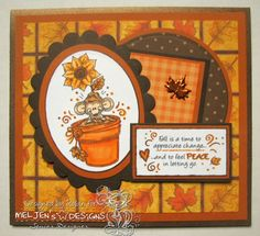 Robin's Creative Nest: Meljen's Design Challenge #136 - Brown & Orange
