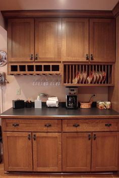 Cherry Wood Cabinets for Small Kitchen Design - Pecansthomedecor Refacing Kitchen Cabinets, Custom Kitchen Cabinets, Oak Cabinets, Painting Kitchen Cabinets, Affordable Kitchen Cabinets, Kitchen Worktops, Cabinet Refacing, Kitchen Cupboards, Kitchen Island