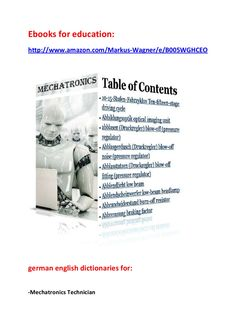 Electronics technician for automation technology ebooks for education german english technical dictionaries robots mechanical engineering