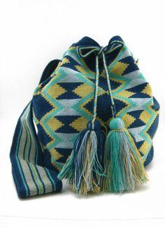 Stormy Blue Beige and Baby Blue Wayuu Mochila Bag   eBay