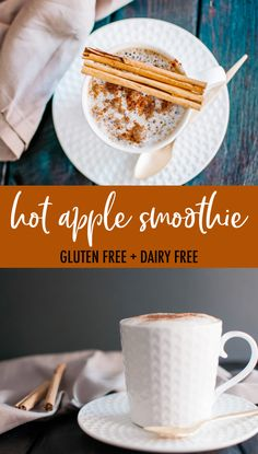 hot apple smoothie Good Healthy Recipes, Clean Eating Recipes, Healthy Desserts, Gluten Free Recipes, Whole Food Recipes, Amazing Recipes, Apple Smoothies, Healthy Smoothies, Smoothie Recipes