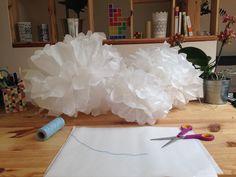 DIY pompon papier de soie lanterne lampion decoration fait main customiser tuto facile